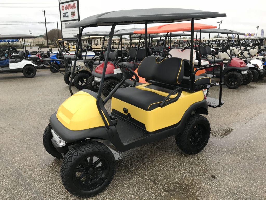 YELLOW CLUB CAR   Ennis Golf Carts